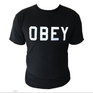 Obey black short sleeve graphic tee